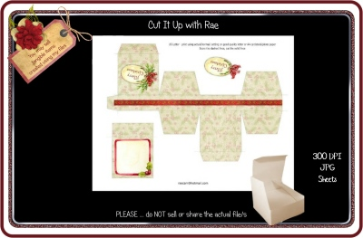 PS178 Christmas Jewelry Gift Box  Printable Sheet