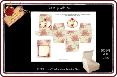 PS179 Christmas Jewelry Gift Box  Printable Sheet
