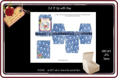 PS180 Christmas Jewelry Gift Box  Printable Sheet
