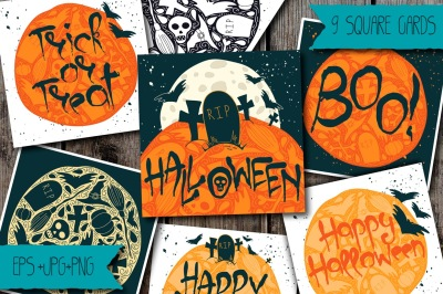 9 Halloween Greeting Cards