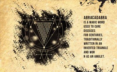 Vector alchemy symbol Abracadabra