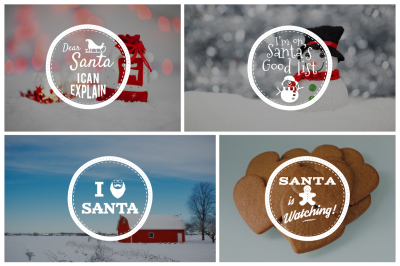 Funny Christmas Badges Collection