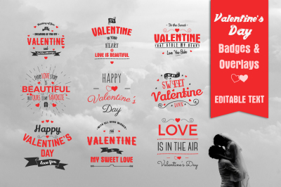 Valentine's Day Badges & Overlays