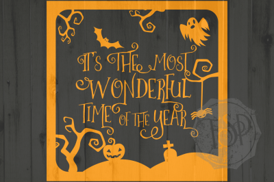 Halloween Cutting File, It's the most wonderful time of the year, SVG  DXF PNG, Cutting File, Printable