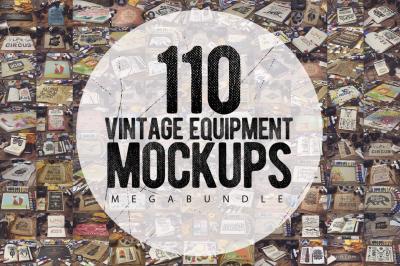 110 Vintage Mockup MEGA Bundle