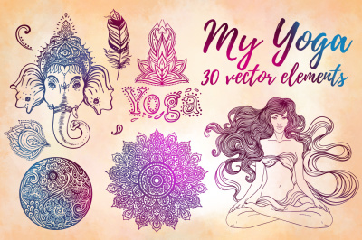 MY YOGA: 30 vectors