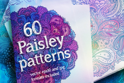 60 Ornate Paisley Pattern Set