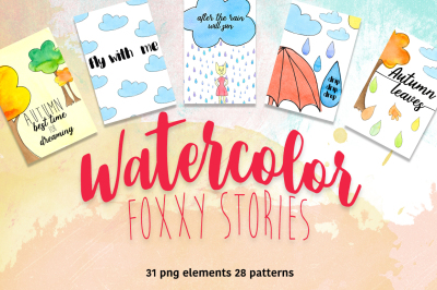 Watercolor fox story
