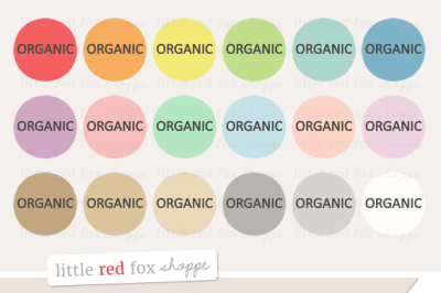 Organic Food Label Clipart
