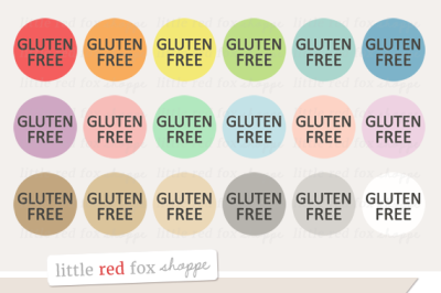 Gluten Free Food Label Clipart
