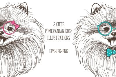 Cute Pomeranians print + bonus!