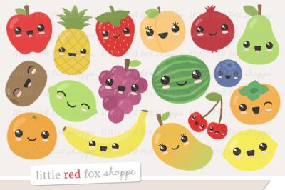 Kawaii Fruit Clipart