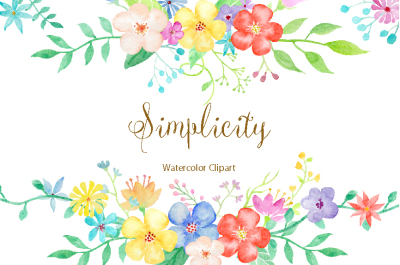 Watercolor Clipart Simplicity