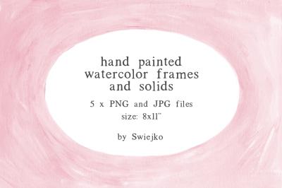 Hand Painted Frames, paint texture, gouache