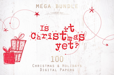 70% OFF Christmas Digital Papers Mega Bundle