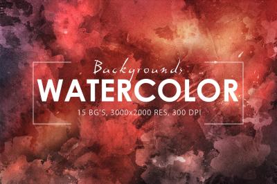 Watercolor Backgrounds 2 & Bonus
