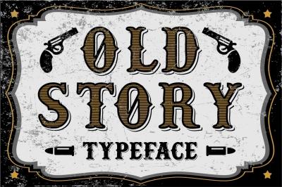Old story - vintage western font