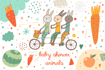 Baby shower animals