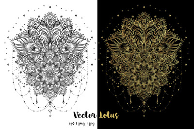 Lotus. Tattoo Design.