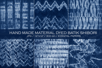 WINTER SALE!  Material dyed batik. Shibori