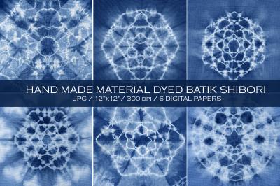 WINTER SALE! Material dyed batik. Indigo.Shibori