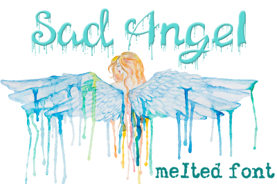 Melted drops font