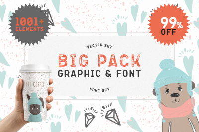 Big Graphic & Font Pack