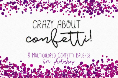 Crazy About Confetti - Confetti Brushes for Photoshop