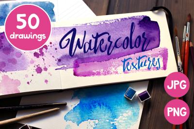 Watercolor color textures