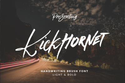Kick Hornet - Font Duo + Extras