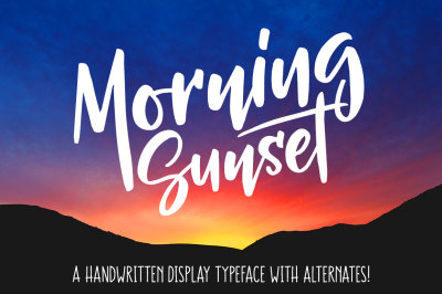 Morning Sunset display font