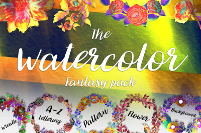 The water color fantasy pack