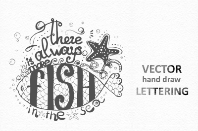 Vector Lettering. Hand-drawn