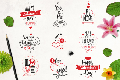 Happy Valentine's day typography