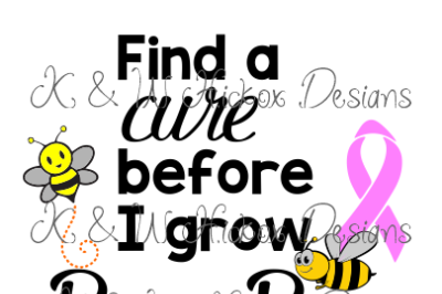 Boo Bees Breast Cancer SVG DXF PDF EPS Cutting File
