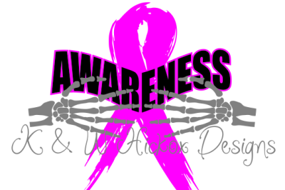 Breast Cancer Awareness Ribbon DXF SVG EPS File