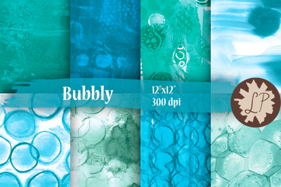 Bubbles Digital Papers