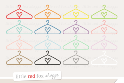 Heart Coat Hanger Clipart