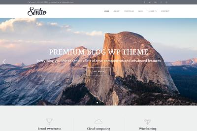Sentio Pro - creative, clean blog WordPress theme
