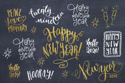Happy New Year Overlays & Vectors