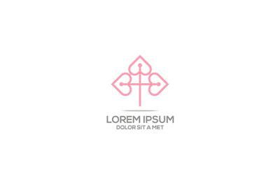 Logo love symbol