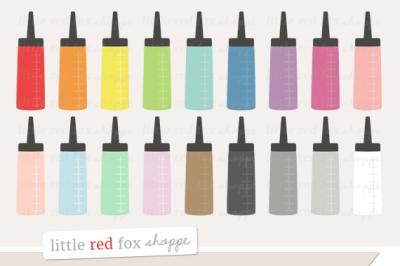 Hair Dye Bottle Clipart