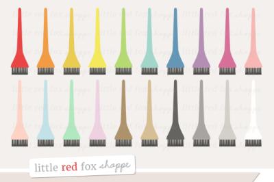 Hair Dye Brush Clipart