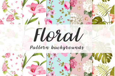 10 floral seamless pattern background Vol.1