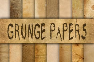 Old Grunge Paper Textures Digital Paper