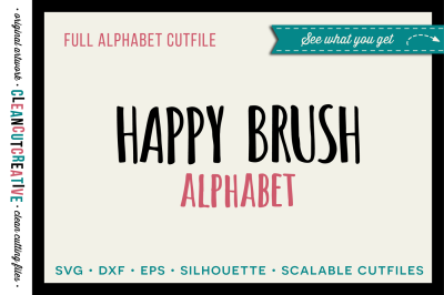 Full Alphabet SVG Cutfile and Clipart - cute Cricut letter shapes