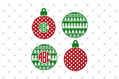 Christmas Monogram Frames Files