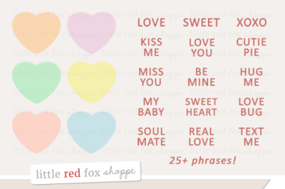 Candy Heart Kit Clipart