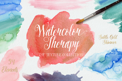 Watercolour Therapy: Textures