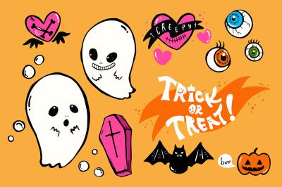 Halloween KAWAII & CREEPY graphics